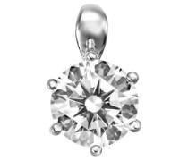 Damen-Anhänger Karat 925 Silber rhodiniert Zirkonia Brillantschliff weiß - 65/0783/1/082