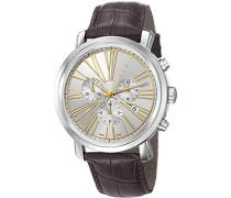Herren-Armbanduhr Couronnes Chronograph Quarz Leder Swiss Made