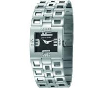 Damen-Armbanduhr Watch Calligraphie Analog Quarz Edelstahl