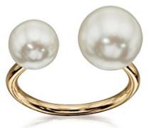 Fiorelli Costume Damen-Doppel Pearl Offene Ring-Größe L