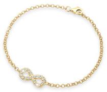 Damen-Armband 925 Sterling Silber mit Swarovski Kristallen Länge 18cm 0203140413-18