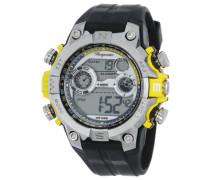 Armbanduhr für Herren mit Digital Anzeige, Quarz-Uhr und Silikonarmband, Wasserdichte mit zeitlosem, schickem Design - klassische, elegante Uhr für Männer - BM800-112E Digital Power