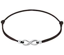 Damen Schmuck Echtschmuck Armband Strangarmband Textil-Armband Infinity Blogger Sterling Silber 925 Länge 17 cm