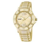 Damen-Armbanduhr Analog Plastik Gold K5650/8
