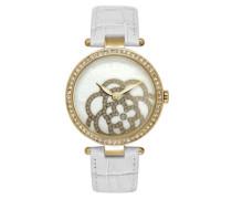 Damen-Armbanduhr Analog Quarz Leder CLD 001S-1BB