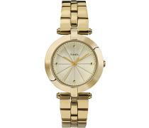 Damen-Armbanduhr Lds Greenwich Goldtone Bracelet Champange Dial Analog Quarz TW2P79200