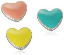 Jewelry Damen-Charm Messing Druckknopf aus der Serie Snap versilbert,multi 1 cm 431320009