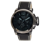 Jet Set Herren-Armbanduhr San Remo Chronograph Quarz Schwarz J6190B-267