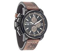 Herren-Armbanduhr 450 Chronograph Quarz Leder R3271776007