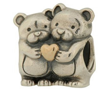 Damen-Bead Bärenliebe Silber vergoldet teilvergoldet - 791395