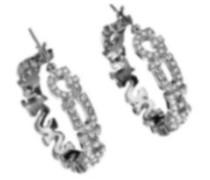 Guess Damen-Creolen Metalllegierung rhodiniert - UBE81152