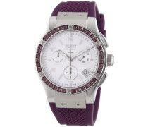 Esprit Collection Damen-Armbanduhr Phorkyra Black - Swiss Made Chronograph Quarz Kautschuk