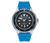 Nautica Herren-Armbanduhr Analog Quarz Silikon A18631G