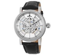 Armbanduhr für Herren mit Analog Anzeige, Automatik-Uhr und Lederarmband - Wasserdichte Herrenuhr mit zeitlosem, schickem Design - klassische Uhr für Männer - BM221-112 Omaha