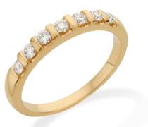 MC215YP Memoire - Diamantring 18 Karat (750) Gelbgold mit 7 Brillanten zus.0,35Ct - IGI Zertifikat Größe 56