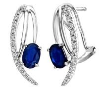 Damen-Ohrringe Creolen 9 Karat 375 Weißgold Diamant DE1109W/SA