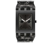 Swatch Quarzuhr Unisex Black Braid  24 mm