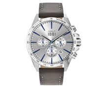 Herren-Armbanduhr CONERO Analog Quarz Leder CRA126SN04GY