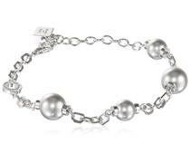 Damen-Armband Trilogy Vergoldet rhodiniert Perle Synthetische Perle Grau 17.0 cm - BTRBBB12