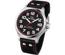 TW Steel Unisex-Armbanduhr Pilot Analog leder schwarz TW410