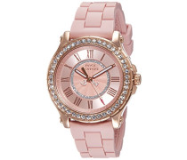 - 1901054 Damen-Armbanduhr-Quarz-Analog Kautschuk Rosa