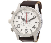 Nixon Unisex-Armbanduhr 51-30 Chrono Leather Chronograph Quarz Leder A1241113-00