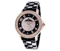 Damen-Armbanduhr Analog Quarz Premium Keramik Diamanten - STM13G411