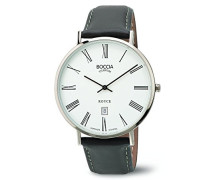 Herren-Armbanduhr Analog Quarz Leder 3589-03