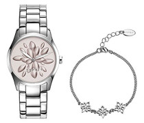 Esprit Damen-Armbanduhr TP10889 Silver Analog Quarz Edelstahl ES108892002