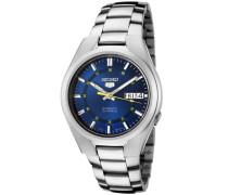Seiko-snk615k 1-5-Herrenuhr-Automatik analog Armband Stahl, blau