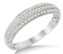 Damen-Ring 9 Karat (375) Weißgold Diamant