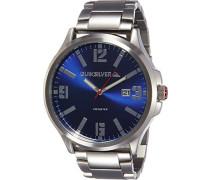 Quiksilver Herren-Armbanduhr The  Beulka Analog Edelstahl Silber QS/1002BLSV