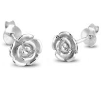 Damen Ohrstecker Rose 925 Sterling Silber 307310111