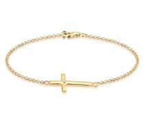Damen Armband 925 Sterling Silber mit Swarovski Kristallen weiß 18 cm 0210242413