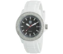 Damen-Armbanduhr Vivid Analog Silikon CD-VIVL-QZ-RBWH-PCSL-BK-C