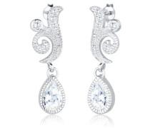 Premium Damen-Ohrstecker 925 Sterling Silber Kristall Zirkonia weiß 0312730613