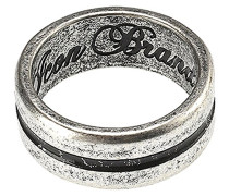 Mens versilbert Single Silhouette Groove Detail Band Ring, Andere, versilbert, S