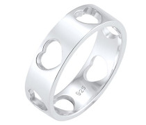 Ring Herz Liebe Cut Out Bandring 925 Silber 0601640317