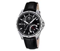 Herren-Armbanduhr Analog Quarz Leder 18208/2