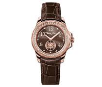 Damen-Armbanduhr Glam Chic Rosegold Braun Analog Quarz