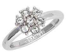 Guess Damen-Ring Edelstahl gebürstet Kristall silber Gr. 54 (17.2) - UBR28517-54