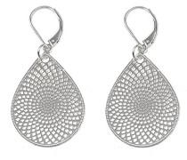 Damen-Ohrhänger Versilbertes Metall Jacqueline klein silber 259-9463001
