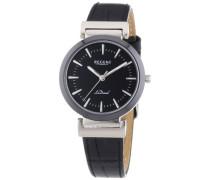 Regent Damen-Armbanduhr XS Analog Quarz Leder 12090272