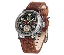 Herren-Armbanduhr Princeton Chronograph Automatik Leder IN1827BKCR