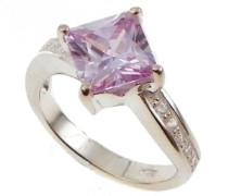Damen-Ring 925 Sterling Silber mit Zirkonia, Weiß und lavendel