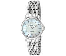 EDOX Damen-Armbanduhr LES BEMONTS -ULTRA SLIMM SWISS MOVEMENT Analog Quarz Edelstahl 57001 3M NAIN
