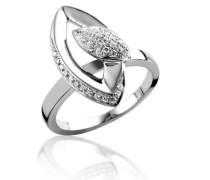 Damen-Ring 925 Sterling Silber rhodiniert Zirkonia wei