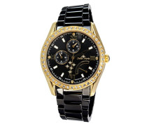 Damen-Armbanduhr Analog Quarz Premium Keramik Diamanten - STM15M8