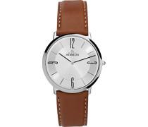 Damen-Armbanduhr 16815 28GO/Herren Armband, Leder, Farbe: braun