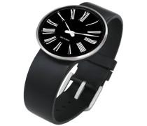 Rosendahl Unisex-Armbanduhr Analog Edelstahl schwarz 43438